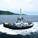 LNG/CNG combined with RSD for ship handling tug